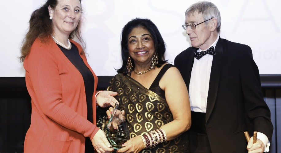 HRH PRINCESS KATARINA, MISS CHARMAINE JAYETILLEKE MBE, JOINT WINNER OF THE COMMUNITY SERVICE AWARD, MR JOHN BRYANT, CHAIRMAN OF THE PRESS ASSOCIATION