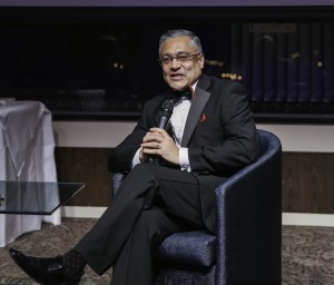 PROFESSOR LORD PATEL OF BRADFORD, DIRECTOR OF ENGLAND AND WALES CRICKET BOARD DURING HIS Q & A SESSION