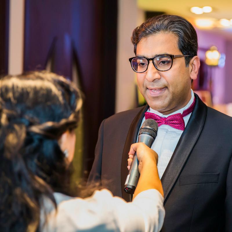 Dr. Zimar Sivardeen speaking to TV Channel presenter.