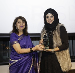 MRS YASMIN SHEIKH MBE WITH THE WINNER OF THE ENTREPRENEURSHIP AWARD, MISS SHAZI SALEEM