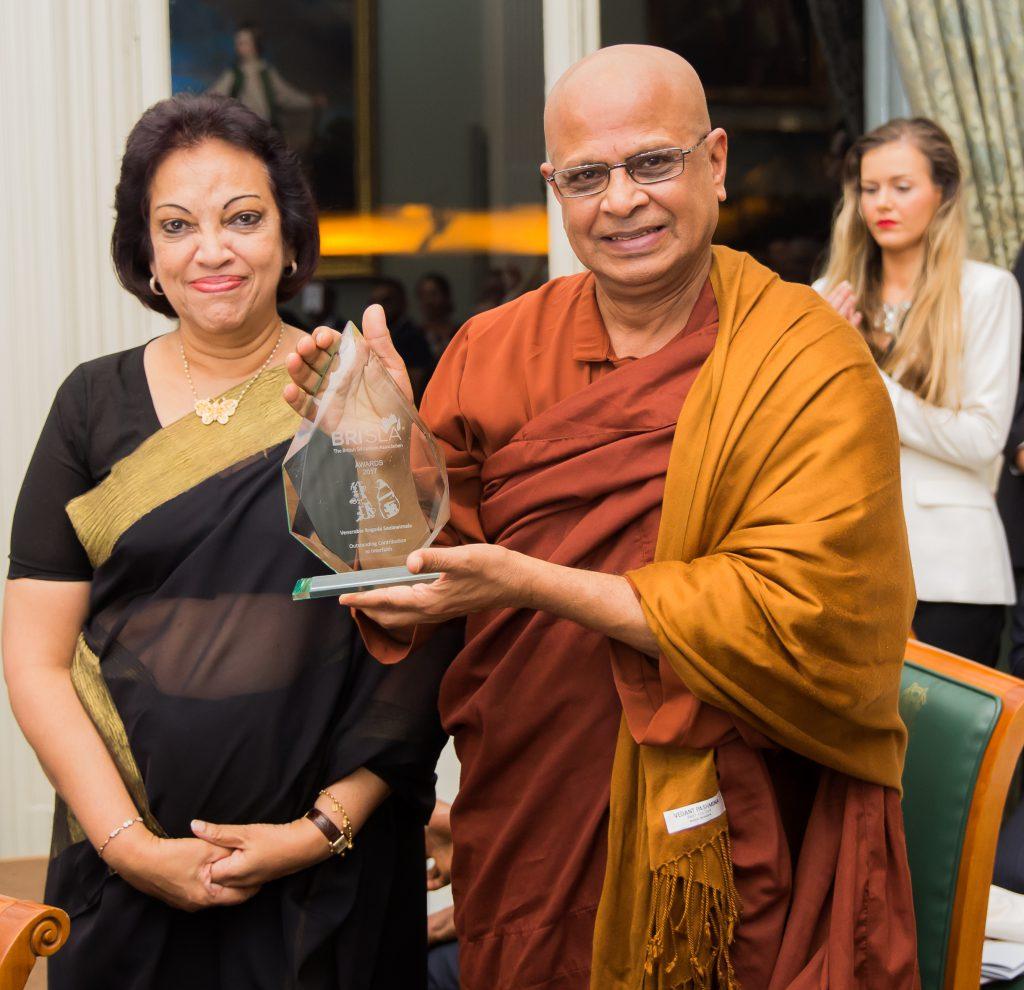 BRISLA Awards 2017 Amari Wijewardena, Venerable Bogoda Seelawimala