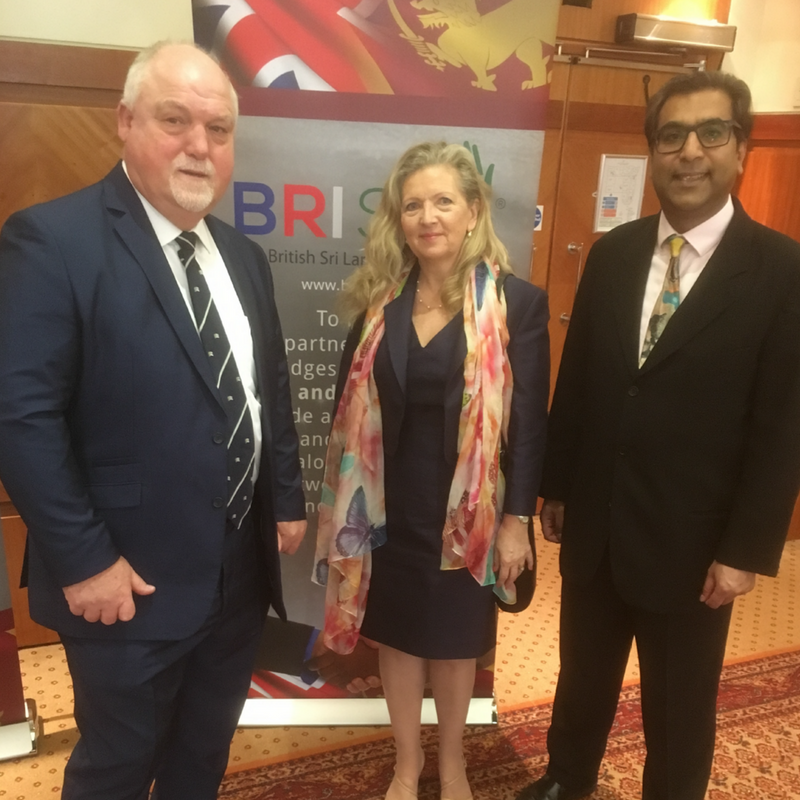 Mike Gatting, OBE, Lynn Stanier, MBE, and Dr Zimar Sivardeen BRISLA Commonwealth Luncheon